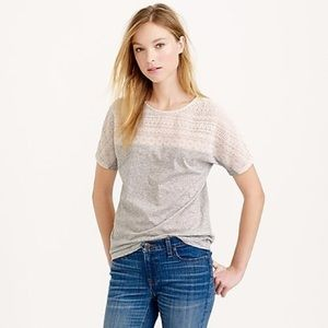J. Crew Embroidered Eyelet T-Shirt